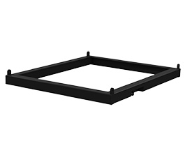T12TRIG / T12TRIG-W. Transition frame for T12 cabinets to SXCF118, available in black or white