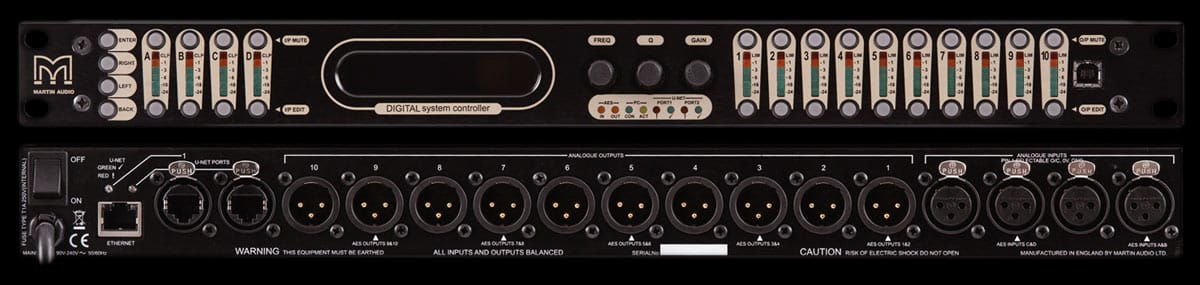 Martin Audio Merlin Controller Front and Back