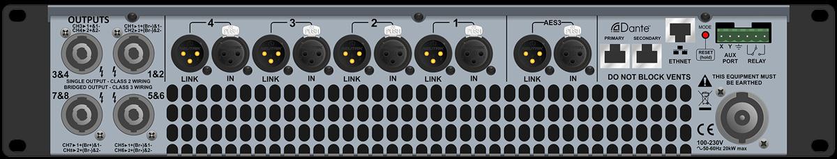 Martin Audio iKON iK81 |  Bộ khuếch đại công suất cao, tám kênh Class D
