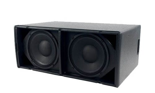 Blackline X210. Direct radiating subwoofer, slimline double 10""